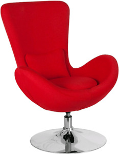 Chaise oeuf rouge  nouveau red egg chair new