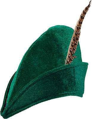 Robin Hood Hut Peter Pan Jäger Girl Kostüm Kleid Damen Herren Kinder Mittelalter ()