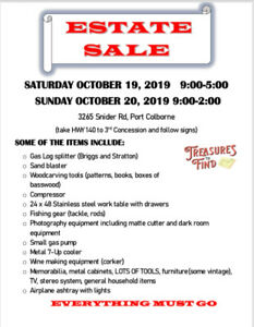 Estate sale port colborne