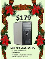Winter Clearance Sale - Dell 780 Desktop PC Only 179!