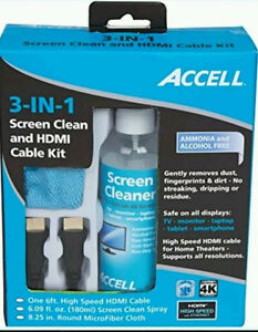 Accell 3-in-1 Screen Clean And HDMI Cable Kit - new in Box kit