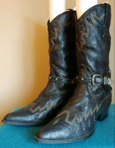 Wild Diva Faux Suede Vegan Womens Cowgirl Western Boot