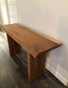 Table console bois massif