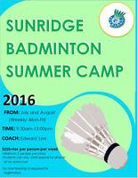 Sunridge Badminton Centre summer camp