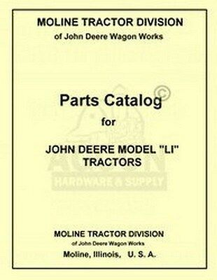 John Deere Li Tractor Parts Manual Catalog Jd 1938-1946