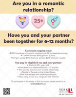 Early Relationships Overtime (LOOKING FOR PARTICIPANTS)