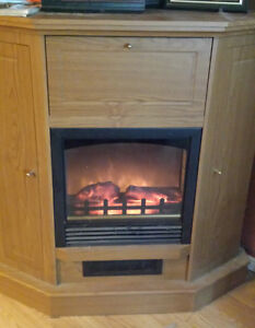 Electric Fireplace and Mantle For Sale