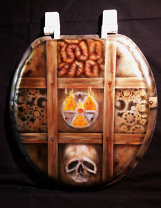 One of a kind Airbrushed Biohazard toilet seat