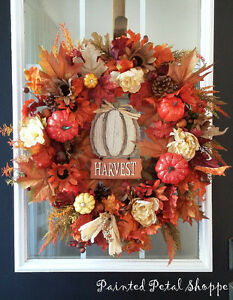 Autumn Harvest Pumpkin Wreath/ Fall Wreath Belleville Belleville Area image 1