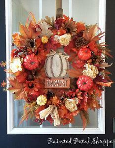 Autumn Harvest Pumpkin Wreath/ Fall Wreath Belleville Belleville Area image 1