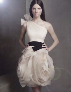 White by Vera Wang, (Ivory) worn once, professionally cleaned