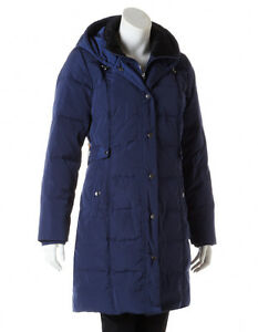 New CLEO Navy Long Winter Down Filled Quilted Coat Jacket - XL Cambridge Kitchener Area image 1