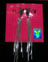 New PLAYBOY BUNNY Earrings with Playboy Gift Bag
