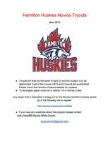 Hamilton Huskies Novice Tryouts ( Born 2011)