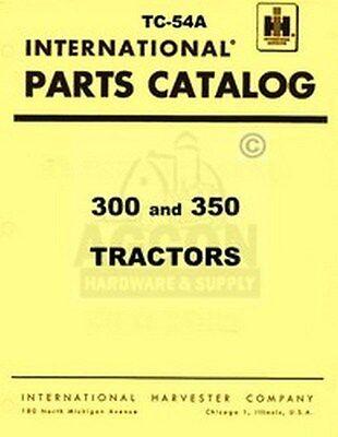 Farmall International 300 350 Tractor Parts Catalog Manual