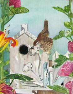 Wrens Breakfast Watercolour