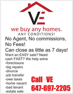 We Buy Houses Cash Any Conditions. Call now!