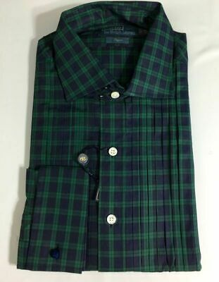 Green Tuxedo Shirt (Polo Ralph Lauren Tuxedo Dress Shirt Mens 15.5 39 Regent Fit Blue Green )