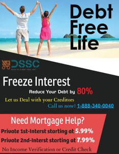 Reduce Debt by 80% --Mortgage HELP NO CREDIT/INCOME Verification