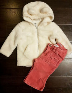 Fall/winter clothing for baby girl size 6-12 months