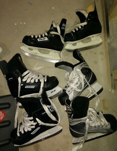 Hockey skates, kids size 9 ($10), size 10 and 11 ($ 15 each)