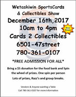 Christmas Sports Card Show Dec 16th Free Admission Great Items