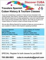 Travelers Spanish Course - with Discover CUBA in Muskoka