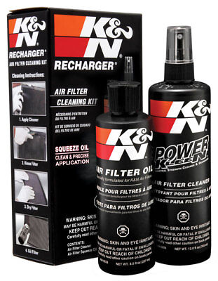 K&N 99-5050 Air Filter Cleaning Care Recharger Kit & Squeeze Oil - Red