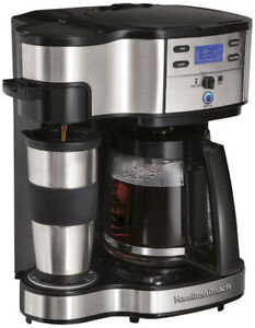 Hamilton Beach The Scoop 12-Cup 2-Way Brewer, New