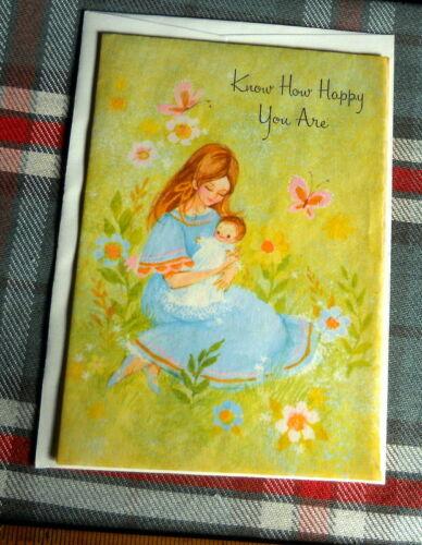 VINTAGE  Baby Congratulations : Know how happy you Are > BUSSA CARDOZO circa1960