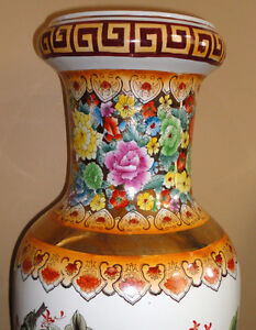 Collectible Chinese decorative tall vase planter pot  Excellent London Ontario image 4