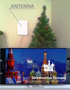 """ Crystal HD"" New Concept Digital HD Indoor TVAntenna (120km!)"