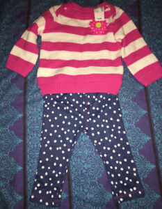 The Children's Place daisy sweater and pants set.