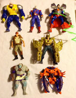 Various action figures