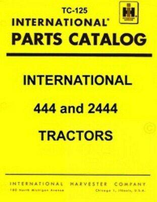 Farmall International 444 2444 Parts Catalog Manual Ih