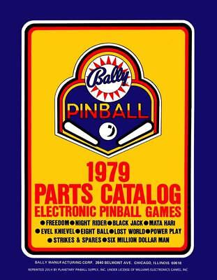 1979 Bally Pinball Machine Parts Catalog Service/Repair Flipper Game Manual PPS