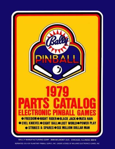 1979 Bally Pinball Machine Parts Catalog Service/Repair Flipper Game Manual PPS