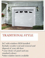 New Garage Doors starting at $650 Installed Call 416-613-8002