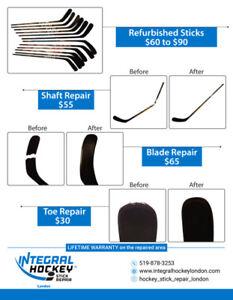 Integral Hockey Stick Repair London / Dorchester