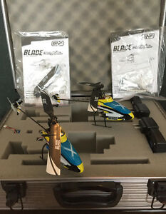 2 NEW BLADE MCPX BL Rc 3D HELICOPTERS in Aluminum Case