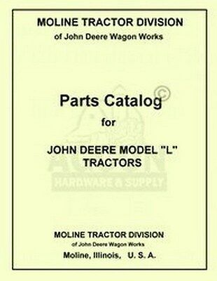John Deere L Tractor Parts Manual Catalog Jd 1937-1946