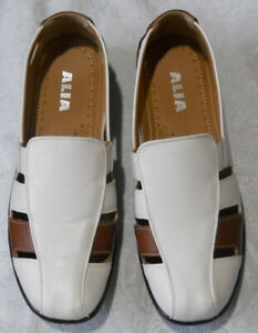 Alia Shoes Size 6  Spring Summer White with brown