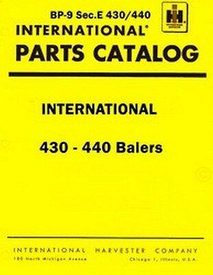 International 430 440 Twine Baler Lok Twist Wire Balers Parts Catalog Manual