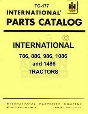 International 786 886 986 1086 1486 Chassi Parts Manual