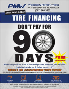 Tire Financing 90 Days No Payments No Interests!