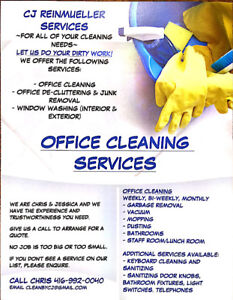 Professional Office Cleaning Services CJ Reinmueller Services