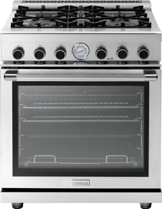 "30"" NEXT PANORAMA DOOR- 4 GAS BRASS BURNERS, 2 CONVECTION FANS"