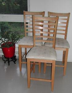Sturdy Oak Chairs.