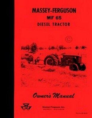 Massey Ferguson Mf 65 Diesel Tractor Operators Manual