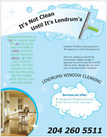 Window cleaning services.